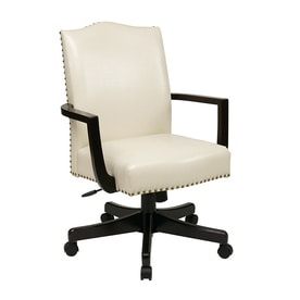 Off white office chair Task Office Star Inspired By Bassett Cream Transitional Manager Chair Lowes Shop Office Star Offwhite Office Chairs At Lowescom