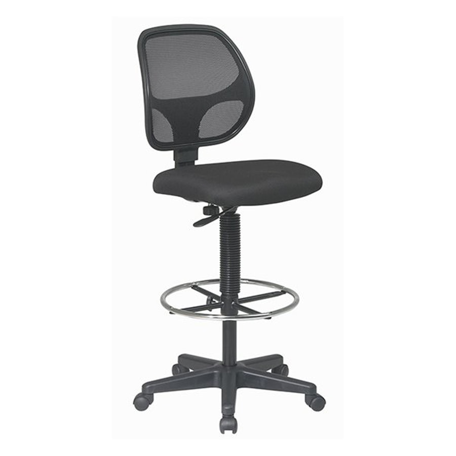Office Star Work Smart DC Icon Black Transitional Drafting Chair