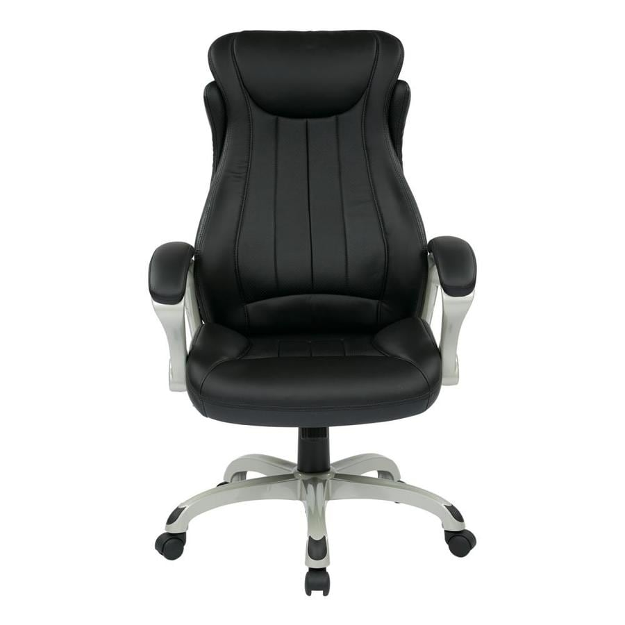 Office Star Work Smart ECH Black Contemporary Executive Chair