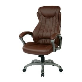 Office Star Work Smart ECH Wine Contemporary Executive Chair