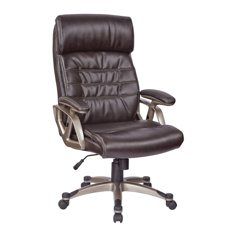 Office Star Work Smart ECH Espresso/Metallic Cocoa Transitional Executive Chair