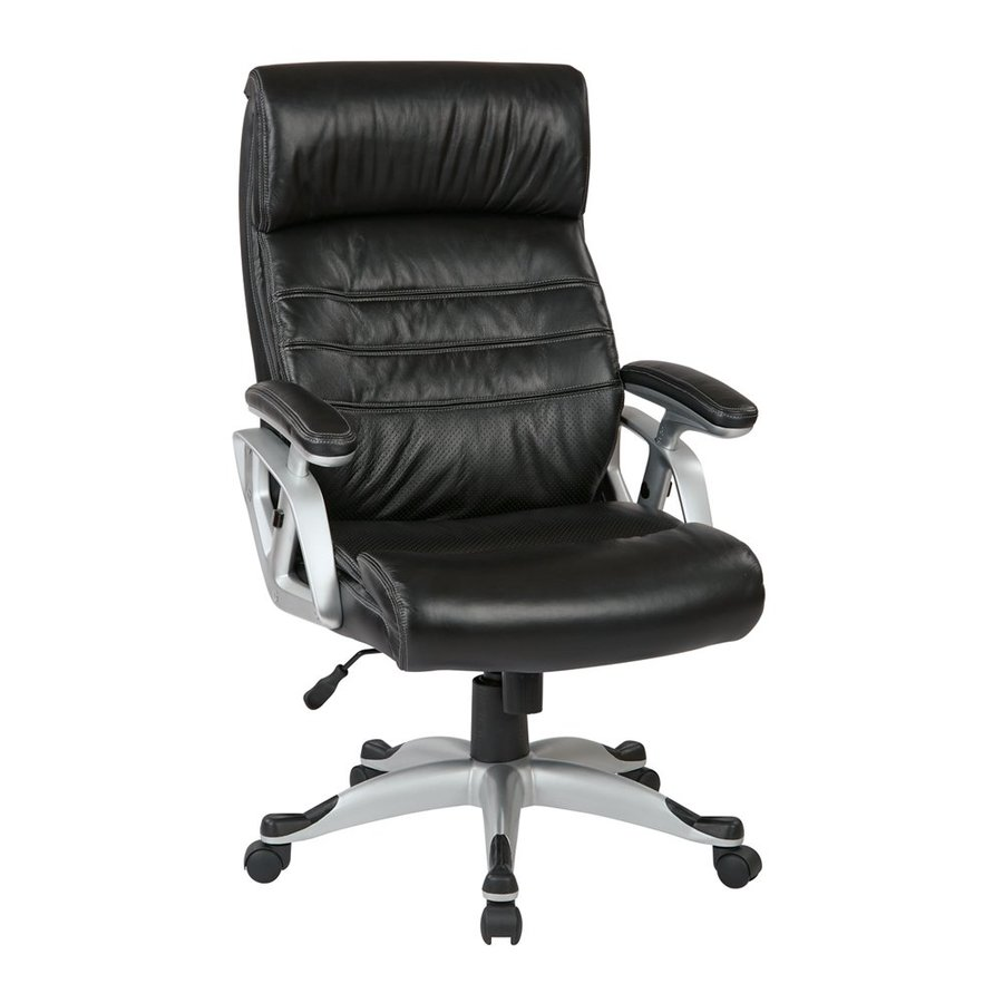 Office Star Work Smart ECH Black Transitional Executive Chair