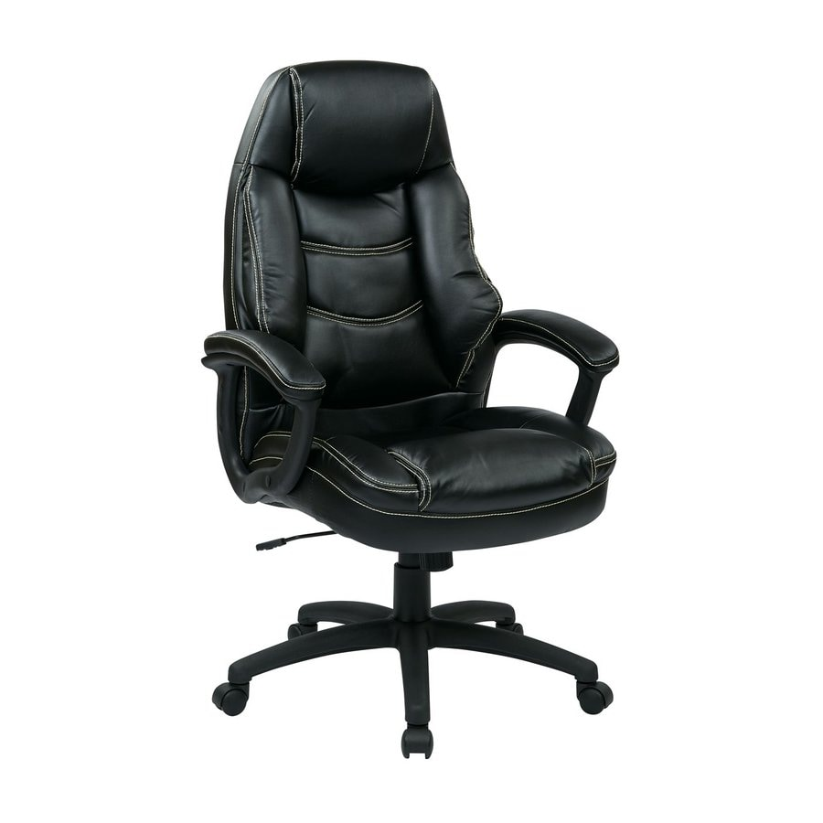 Office Star Work Smart FL Black Contemporary Executive Chair
