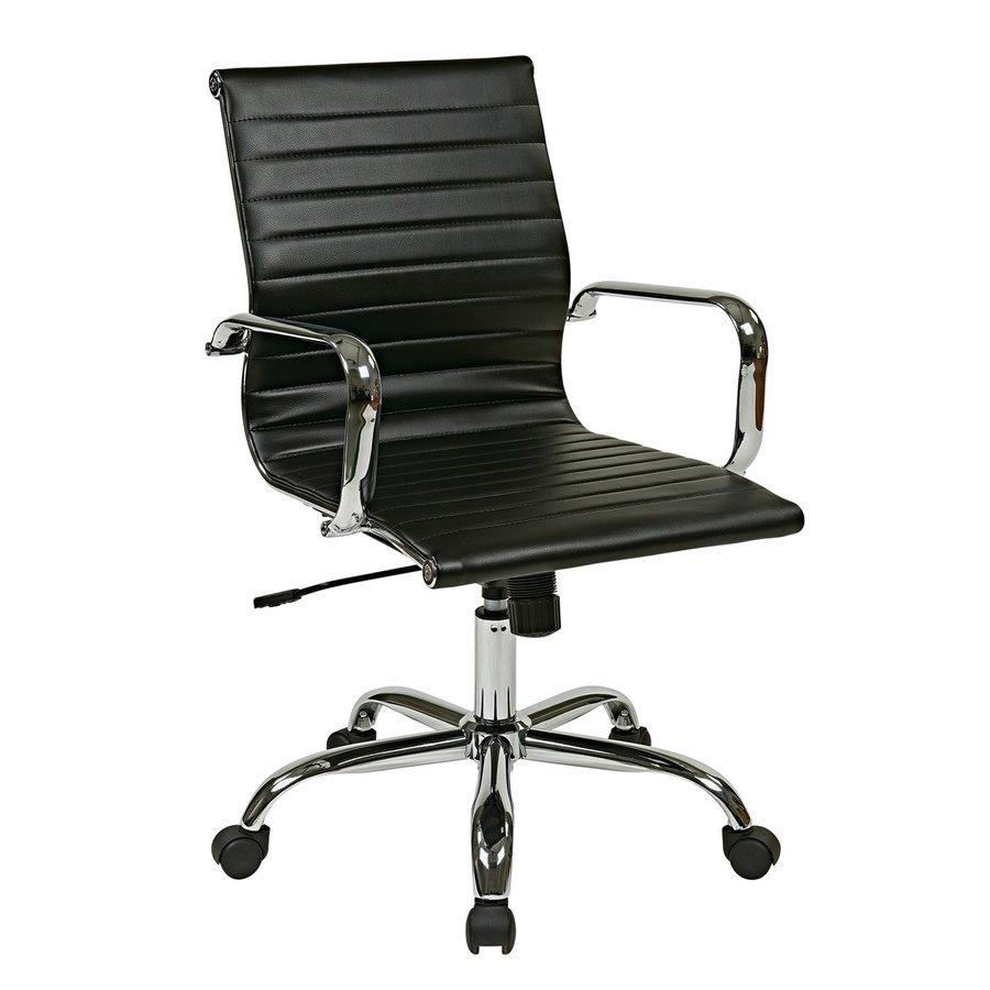 Office Star Work Smart FL Black Contemporary Task Chair