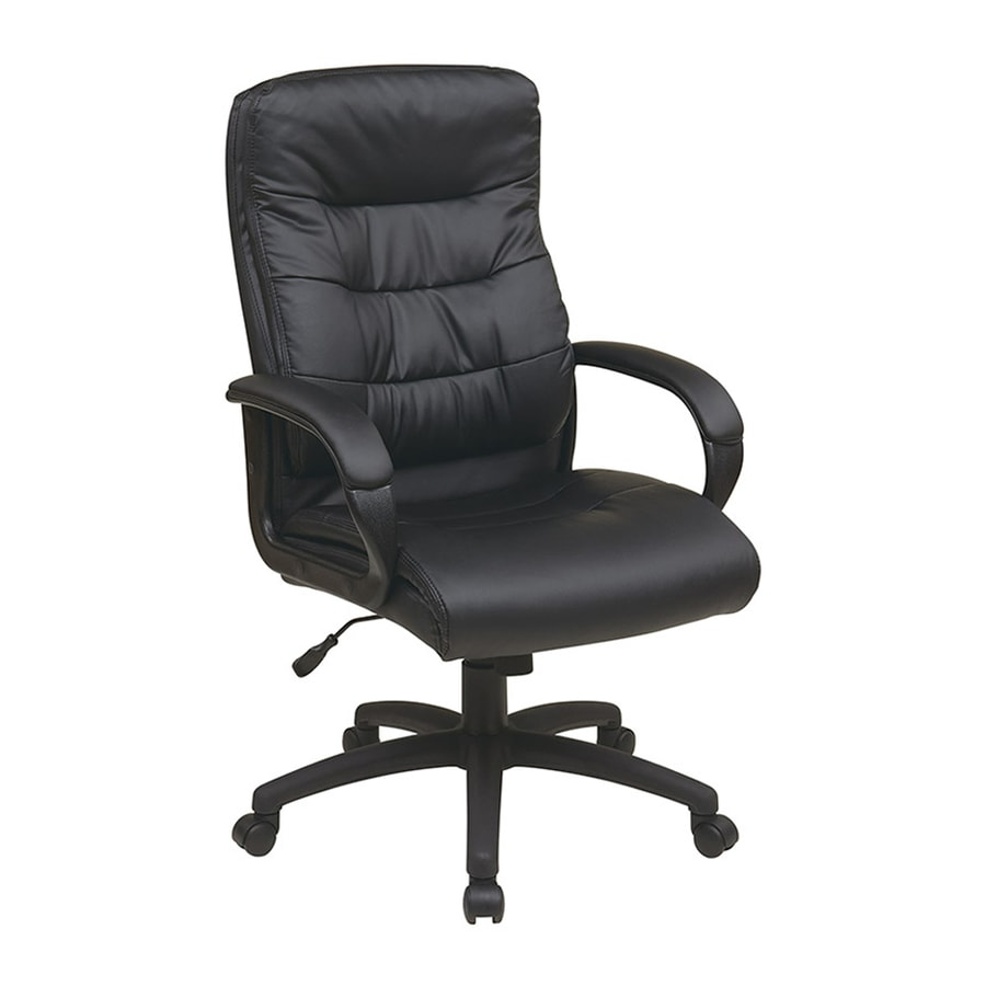 Office Star Work Smart FL Black Transitional Executive Chair