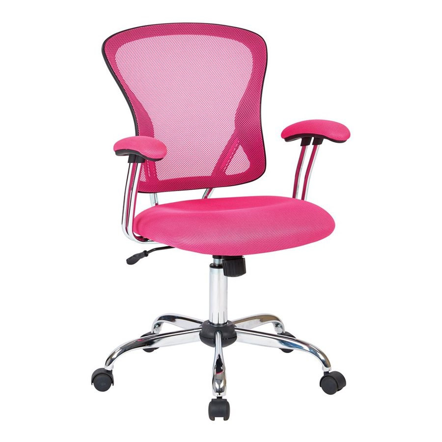 Office Star Ave Six Pink Contemporary Task Chair