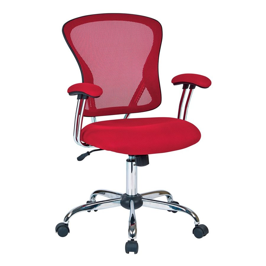 Office Star Ave Six Red Contemporary Task Chair