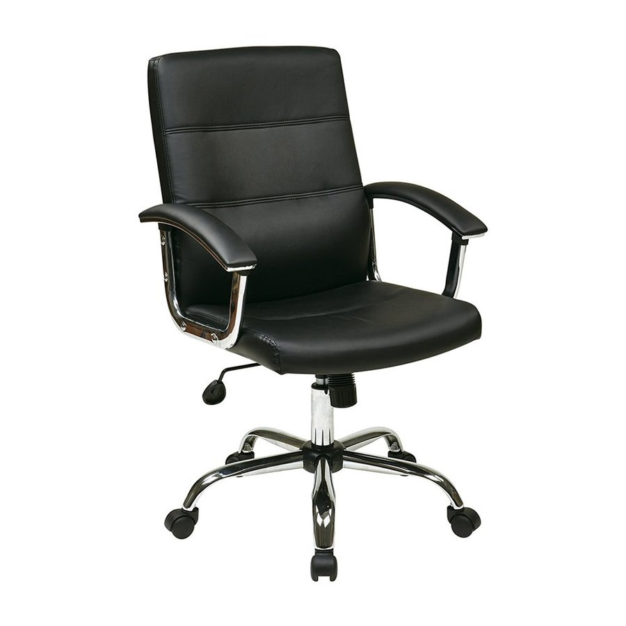 Office Star Ave Six Black Transitional Task Chair