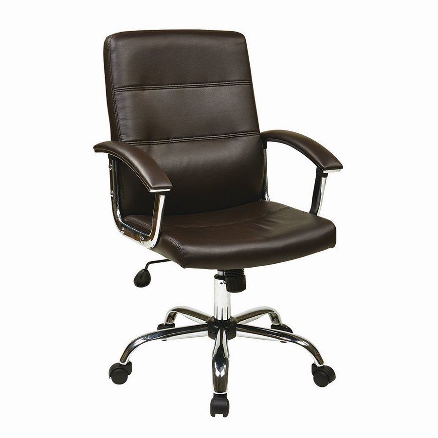 Office Star Ave Six Espresso Transitional Task Chair
