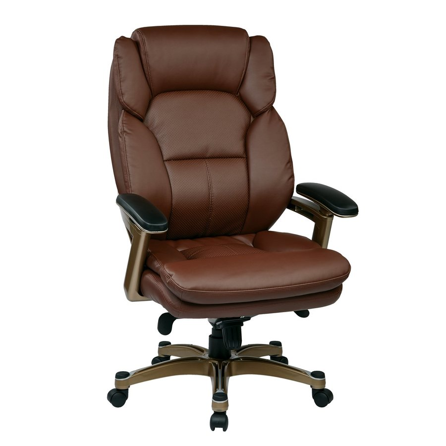 Office Star Work Smart OPH Wine Transitional Executive Chair