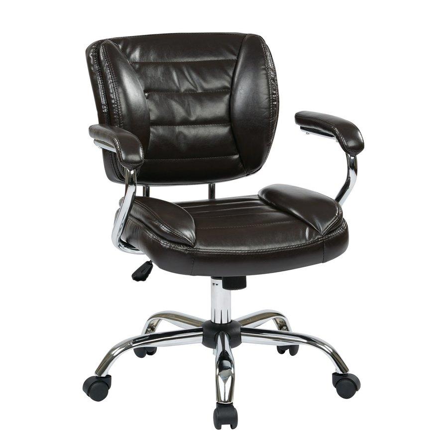 Office Star Work Smart ST Espresso Contemporary Task Chair