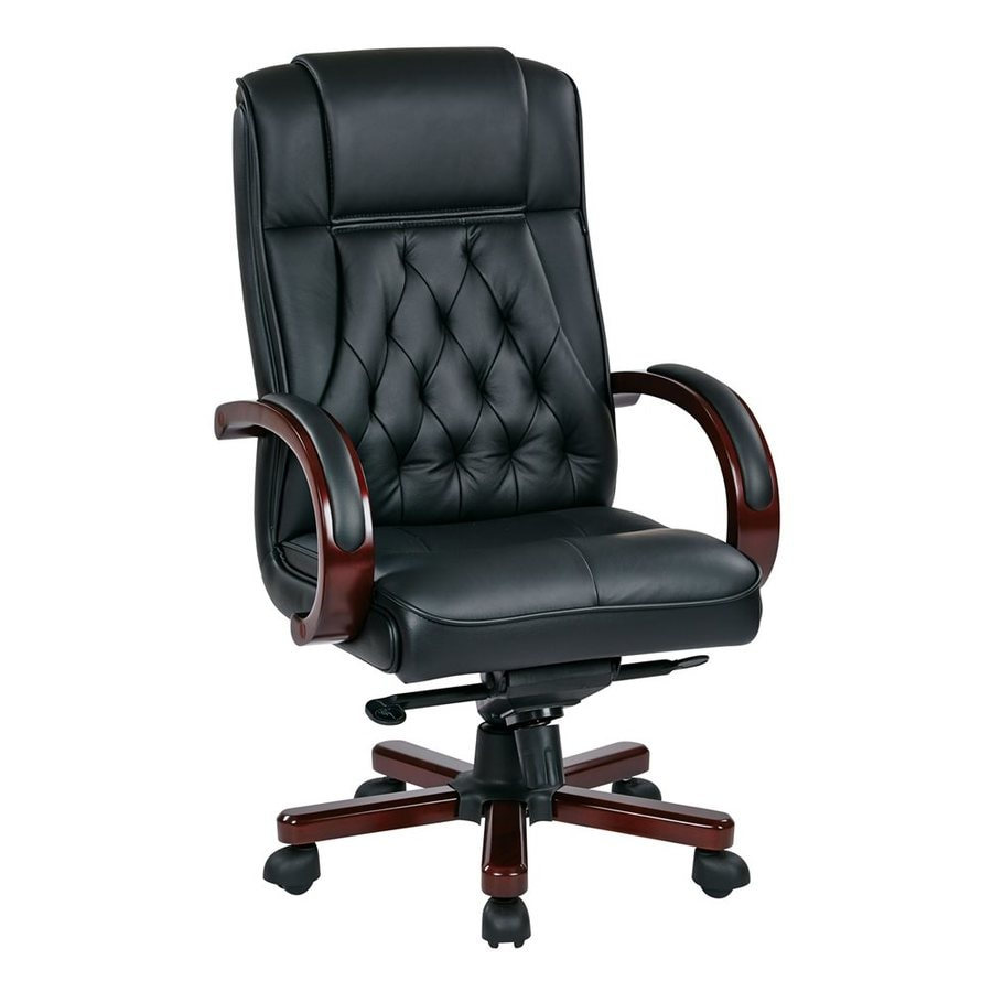 Office Star OSP Furniture NJ Black/Royal Cherry Traditional Executive Chair