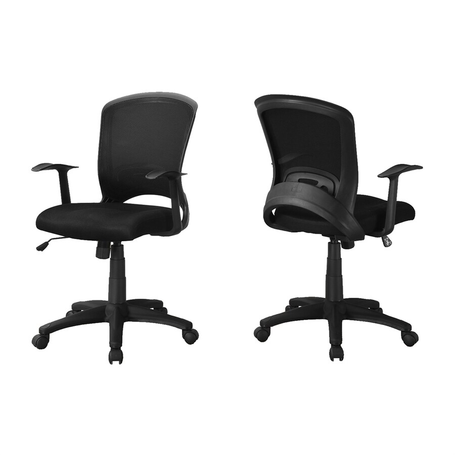 Monarch Specialties Set Of 1 Black Contemporary Desk Chair