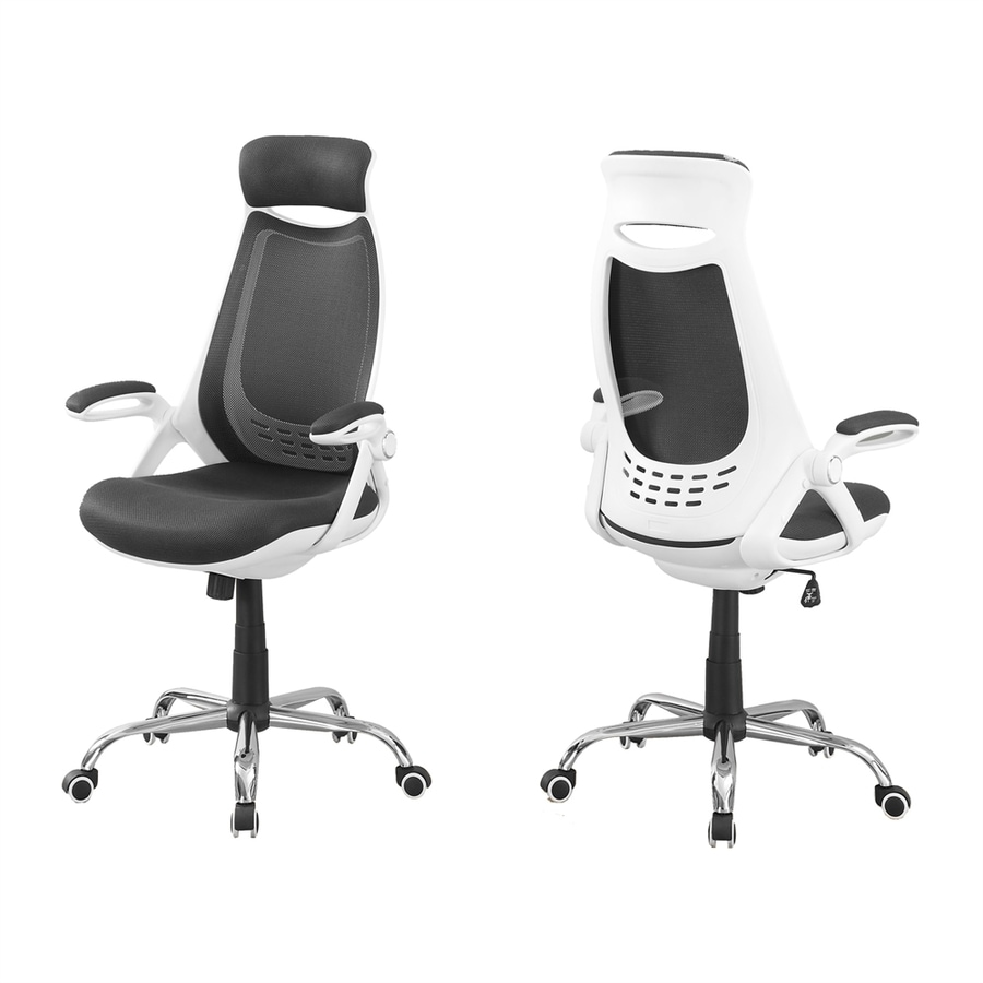 Monarch Specialties White/Grey Contemporary Executive Chair