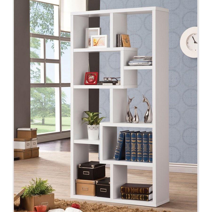 Coaster Fine Furniture White Wood 7-Shelf Bookcase