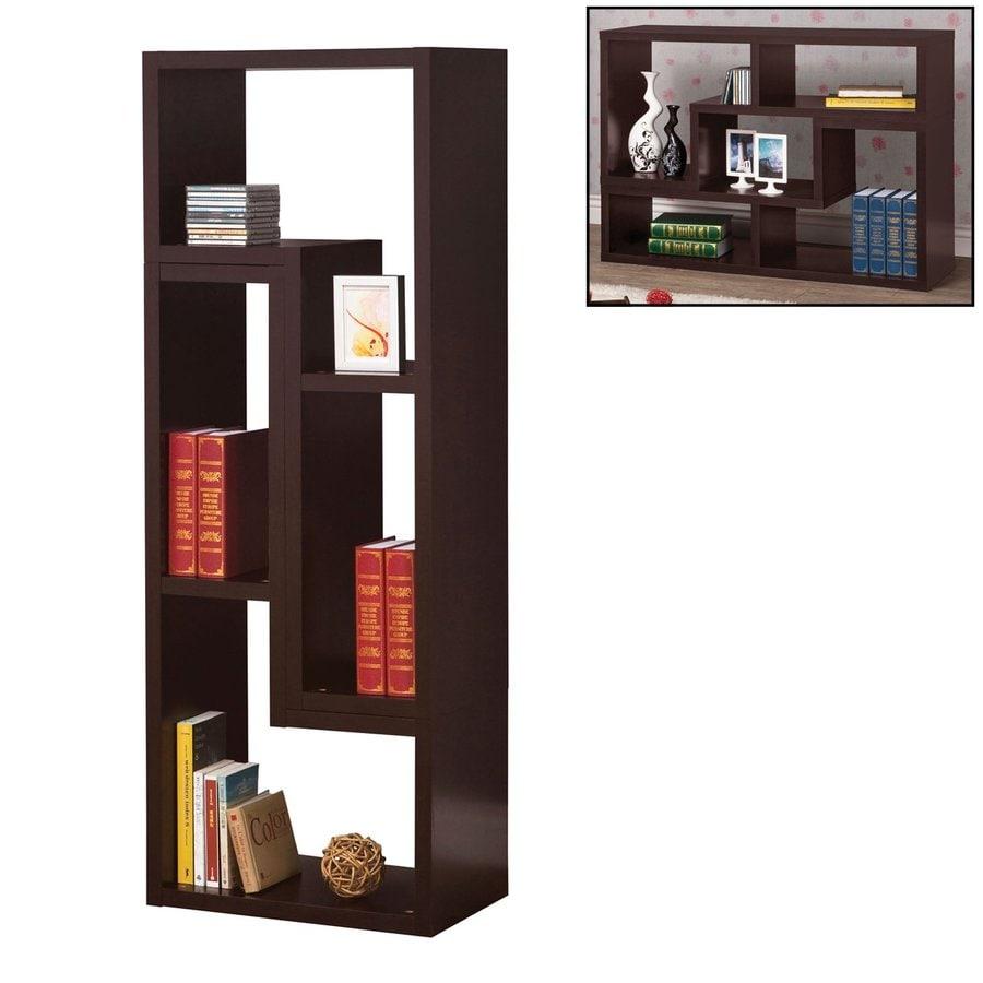 Coaster Fine Furniture Cappuccino Wood 4-Shelf Bookcase