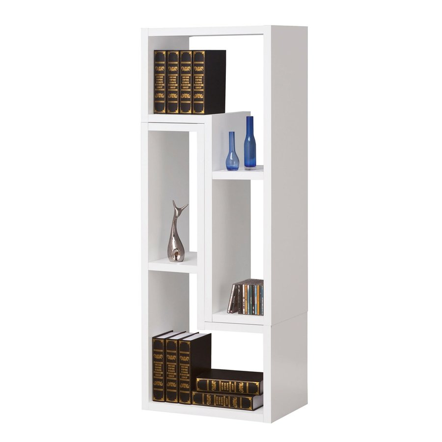 Coaster Fine Furniture White Wood 4-Shelf Bookcase