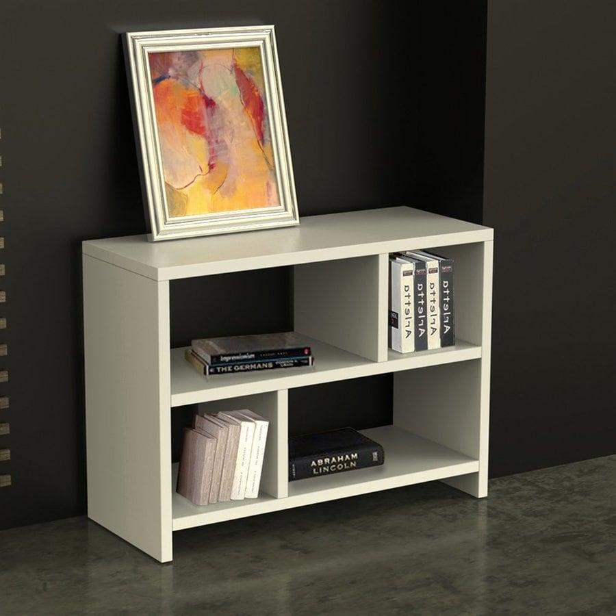 Convenience Concepts Northfield White 4-Shelf Bookcase