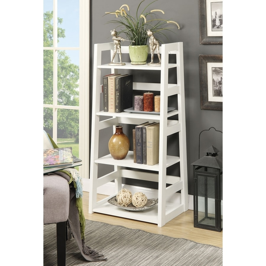 Convenience Concepts White 4-Shelf Bookcase