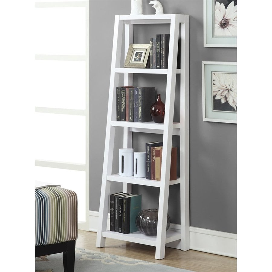 Convenience Concepts Newport White 4-Shelf Bookcase