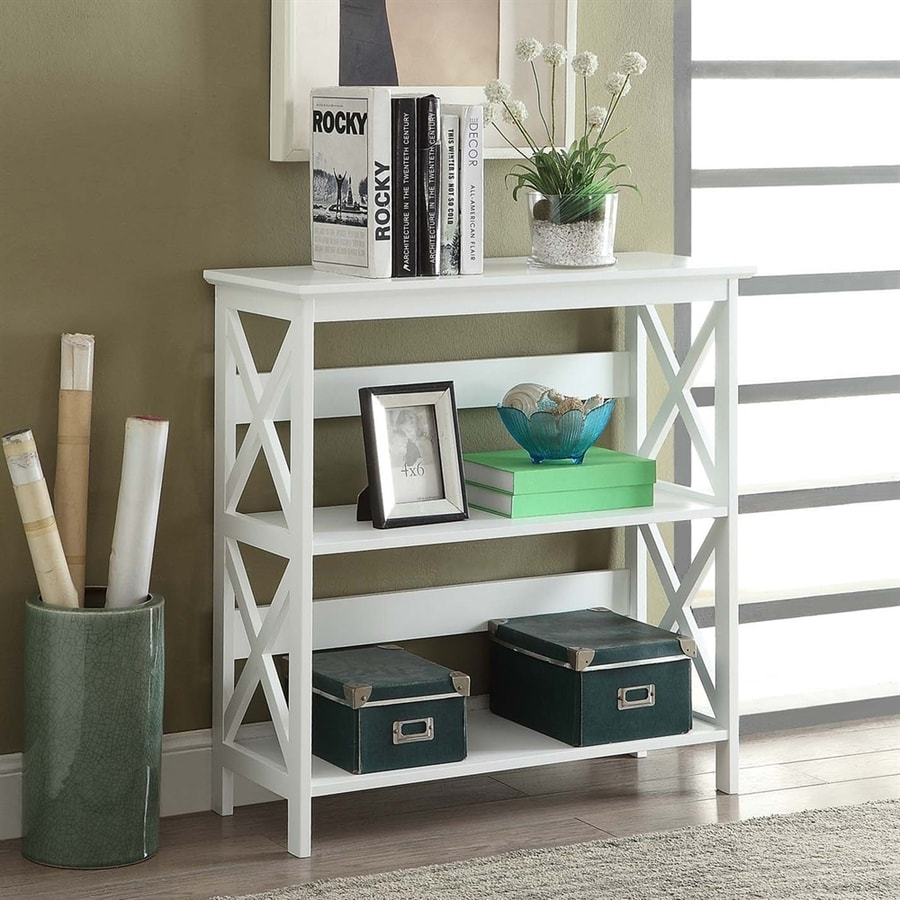 Convenience Concepts Oxford White 3 Shelf Bookcase