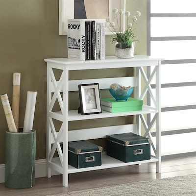Outstanding Oxford White 3 Shelf Bookcase Machost Co Dining Chair Design Ideas Machostcouk