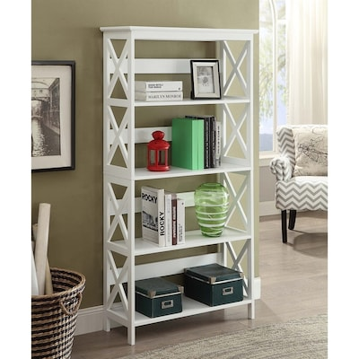 buy online 654d5 125ef Convenience Concepts Oxford White 4-Shelf Bookcase at Lowes.com