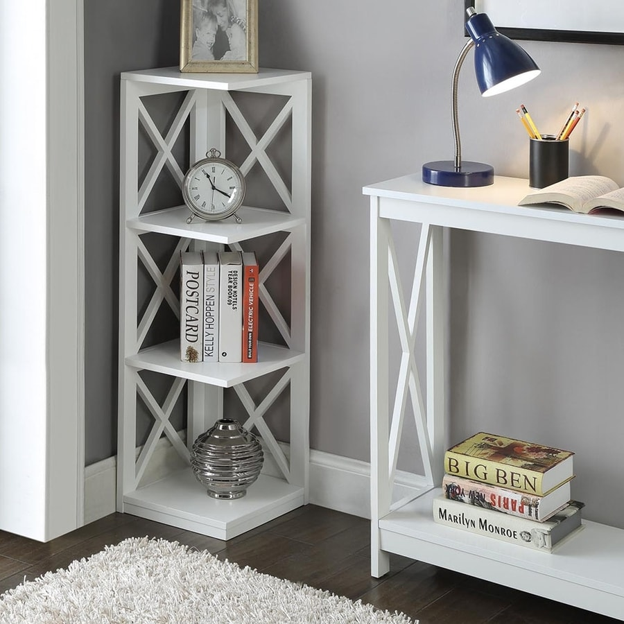 Convenience Concepts Oxford White 3-Shelf Bookcase