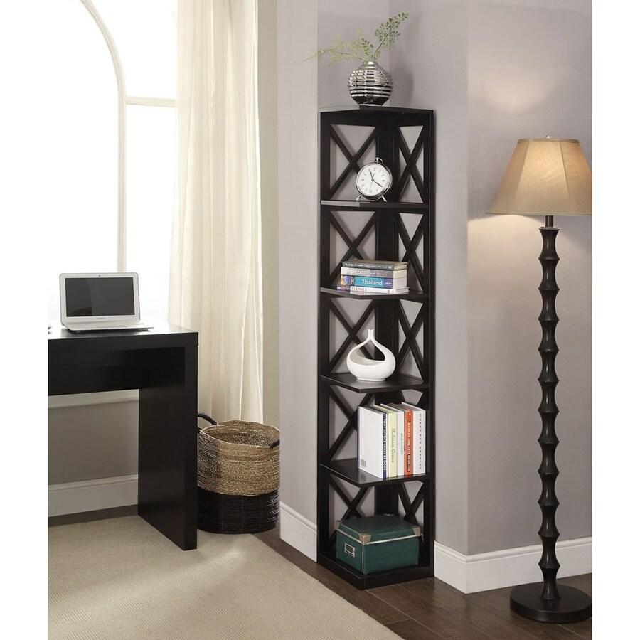 Merveilleux Convenience Concepts Oxford Black 5 Shelf Bookcase