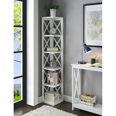 Astounding Convenience Concepts Oxford White 5 Shelf Bookcase At Lowes Com Machost Co Dining Chair Design Ideas Machostcouk