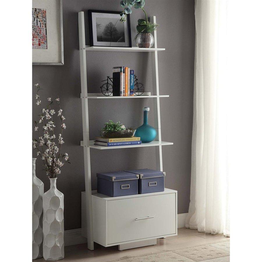 Convenience Concepts American Heritage White 4-Shelf Bookcase