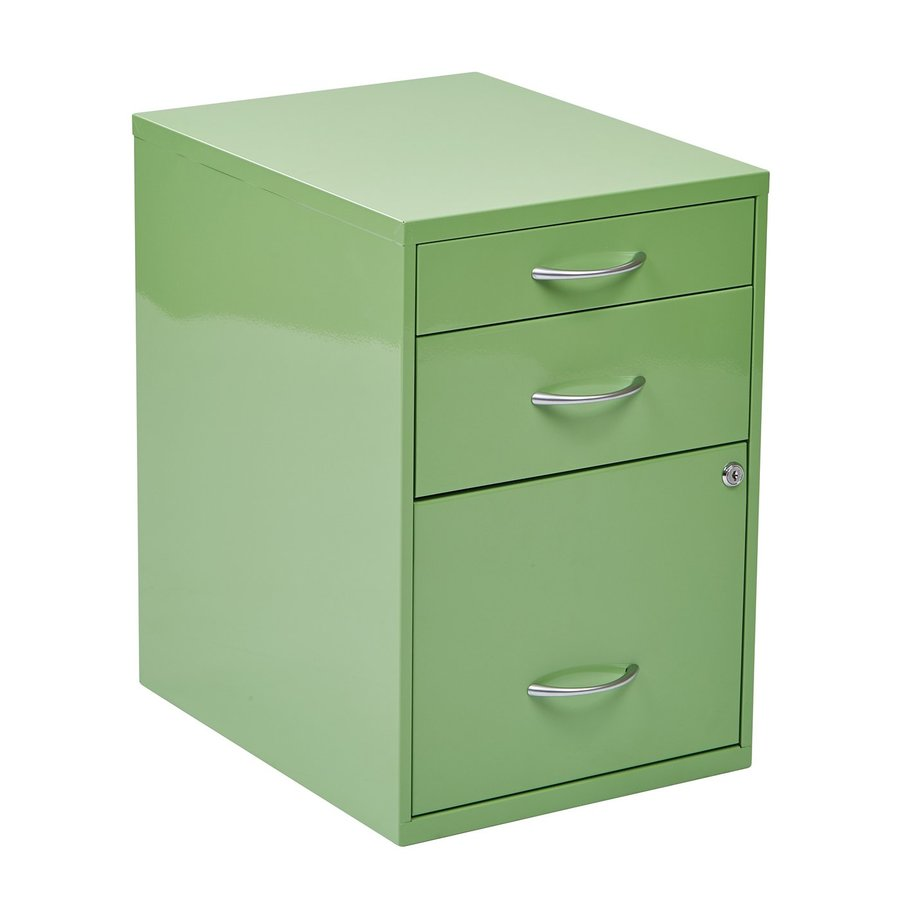 Office Star OSP Designs Avocado Green 3 Drawer File Cabinet