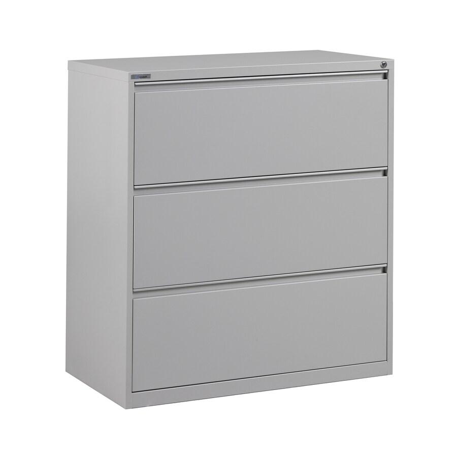 Office Star OSP Furniture Light Grey 3-Drawer File Cabinet