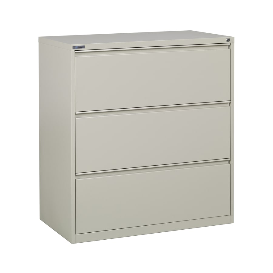 Office Star OSP Furniture Putty 3-Drawer File Cabinet