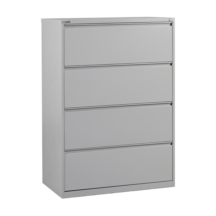 Office Star OSP Furniture Light Grey 4-Drawer File Cabinet