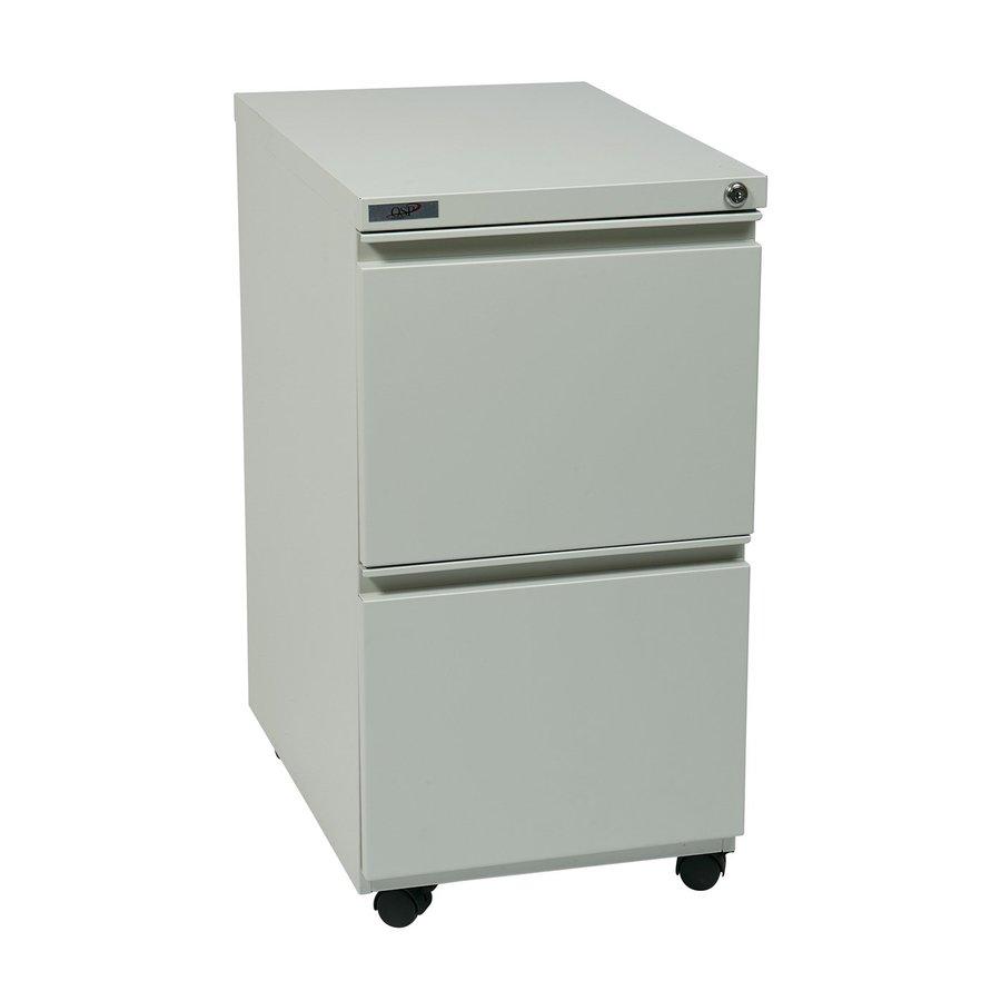 Office Star OSP Furniture Light Grey 2-Drawer File Cabinet