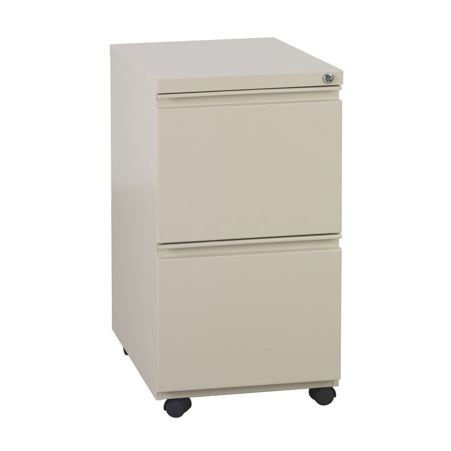 Office Star OSP Furniture Putty 2-Drawer File Cabinet