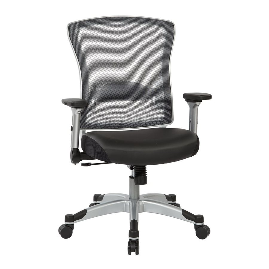 Office Star Space Seating 317 Black/Platinum Contemporary Desk Chair