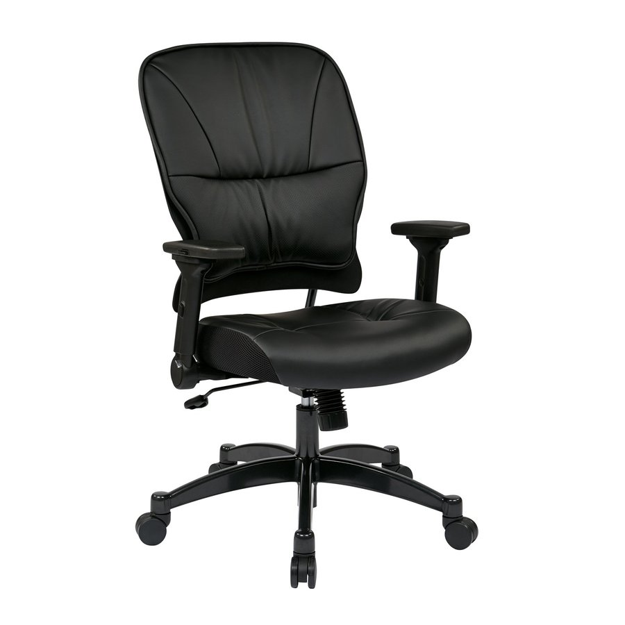 Office Star Space Seating 32 Black Contemporary Manager Chair