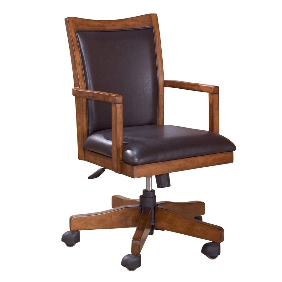 Signature Design By Ashley Cross Island Um Brown Oak Stain Traditional Desk Chair