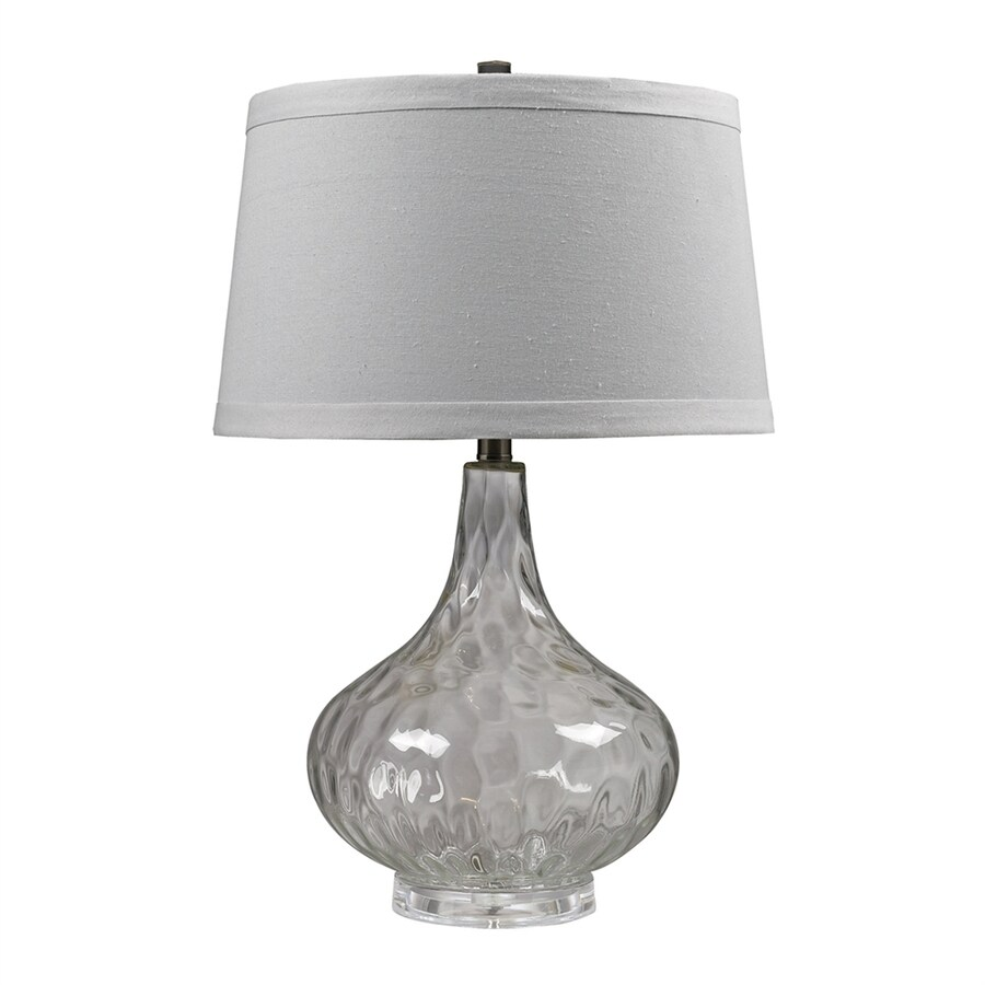 Westmore Lighting 24-in Clear 3-way Table Lamp with Fabric Shade