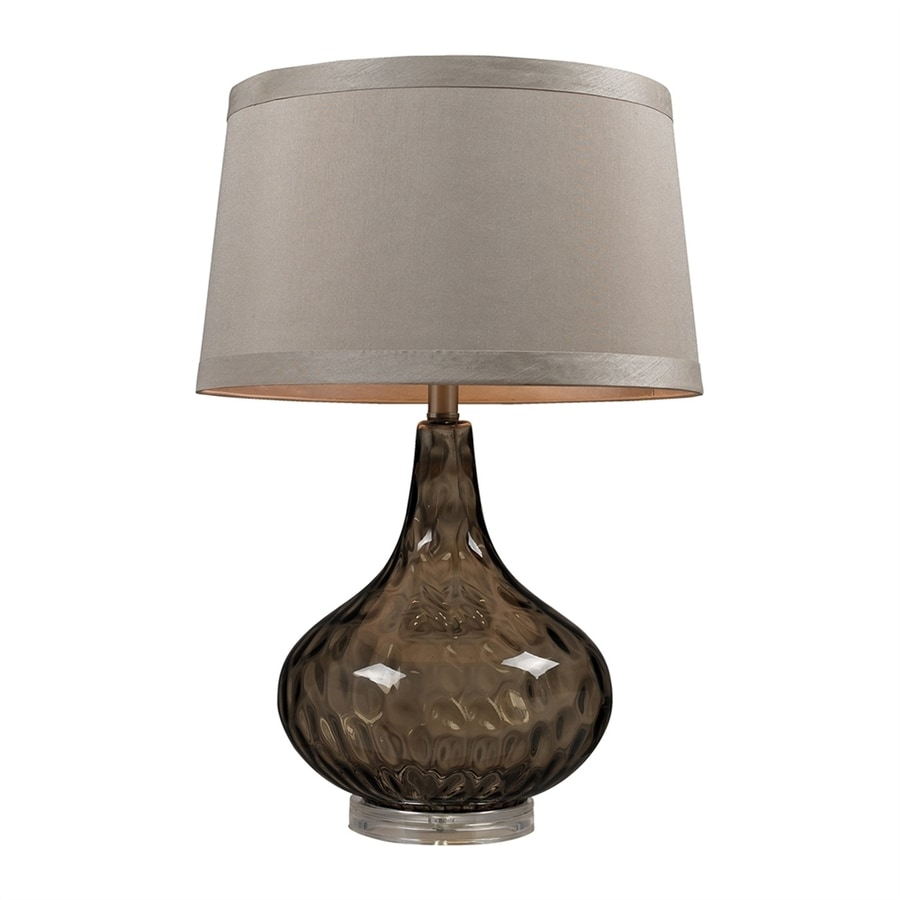 Westmore Lighting 24-in Coffee Smoked 3-way Table Lamp with Fabric Shade