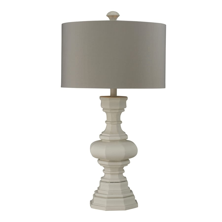 Westmore Lighting Parisian 31-in Parisian Plaster 3-way Table Lamp with Fabric Shade