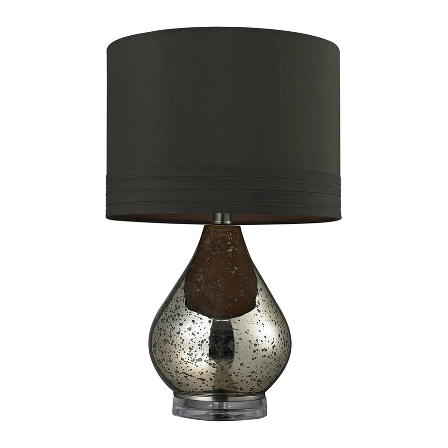 Westmore Lighting Mercury 22.25-in Gold Plated Mercury 3-way Table Lamp with Fabric Shade