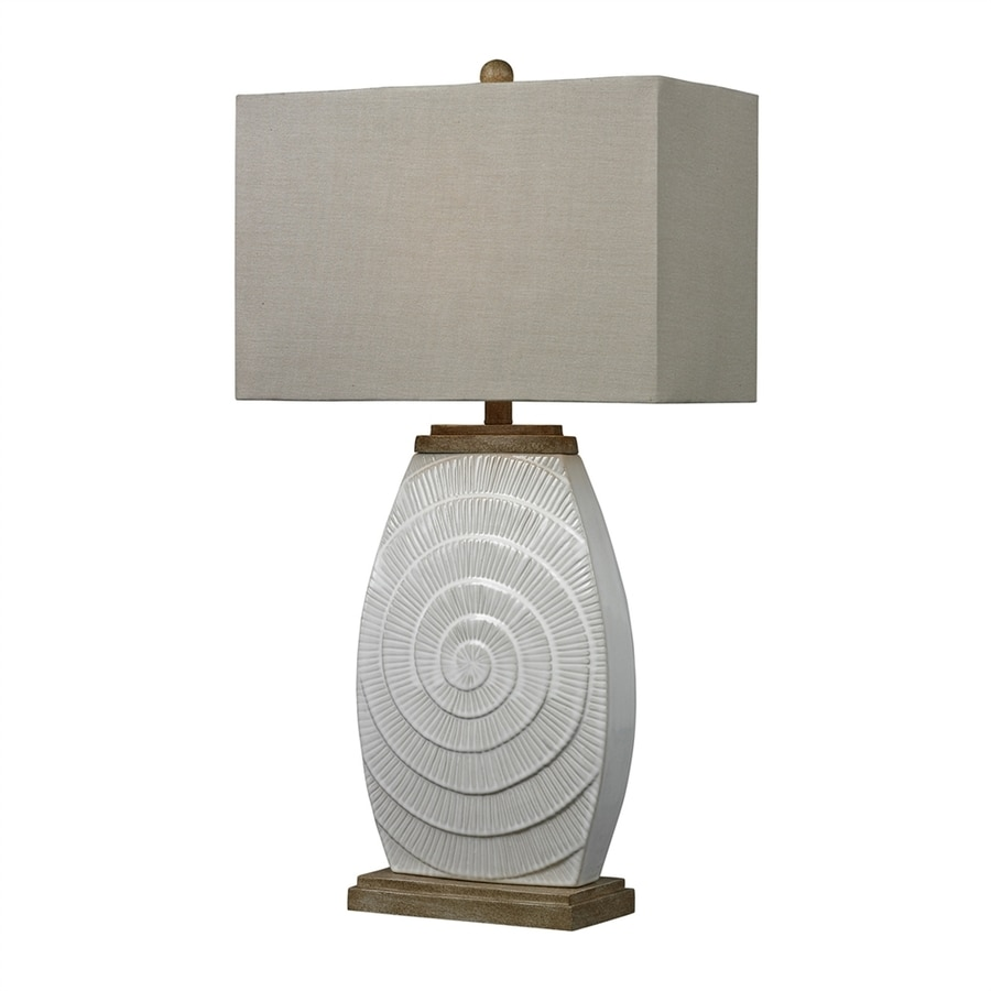 Westmore Lighting 31-in Fauborg Glaze 3-way Table Lamp with Fabric Shade