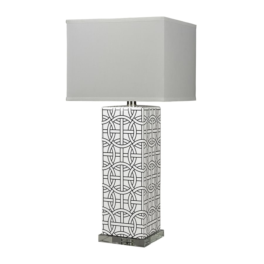 Westmore Lighting 31-in Gloss White 3-way Table Lamp with Fabric Shade