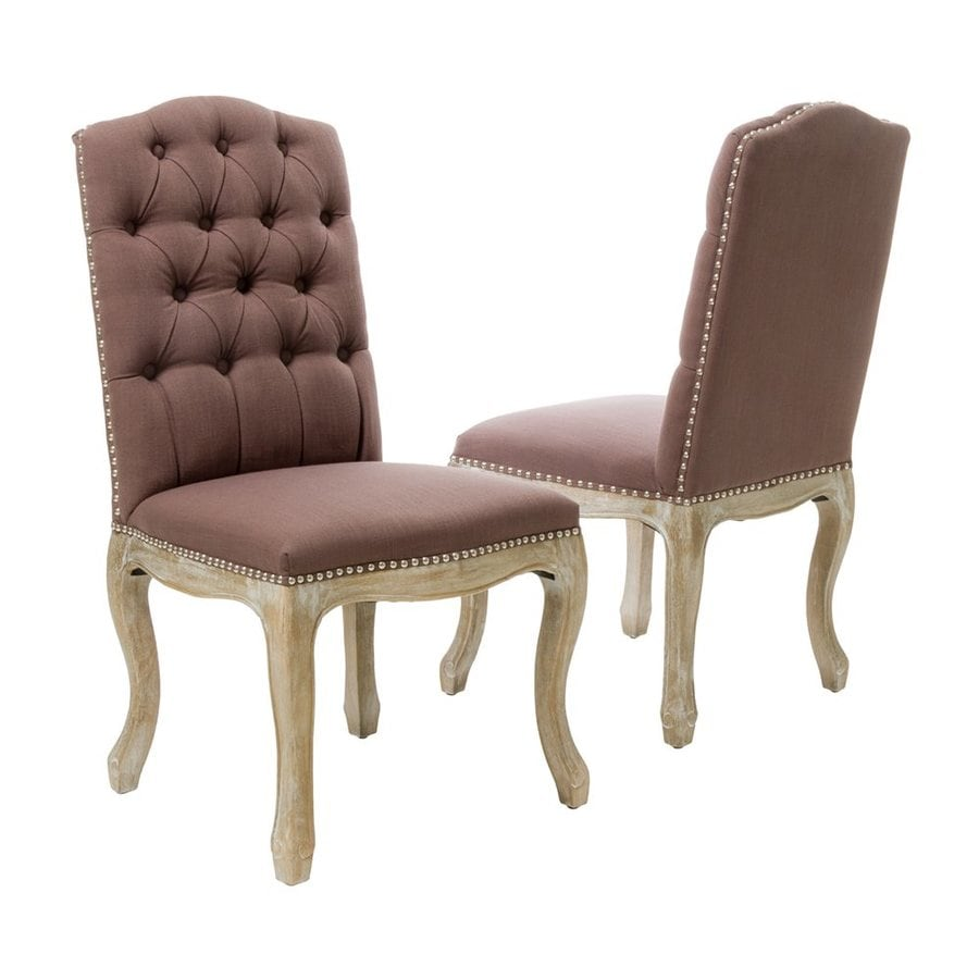 Best Selling Home Decor Set of 2 Traditional Brown Side Chair