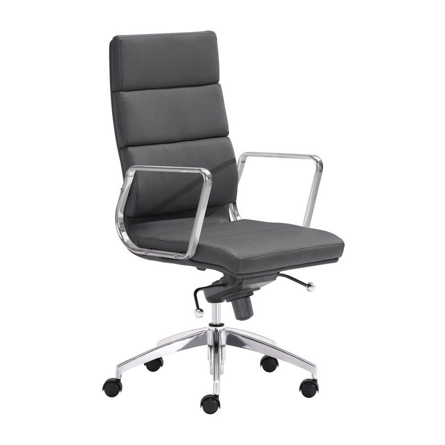 Zuo Modern Engineer Black Contemporary Desk Chair