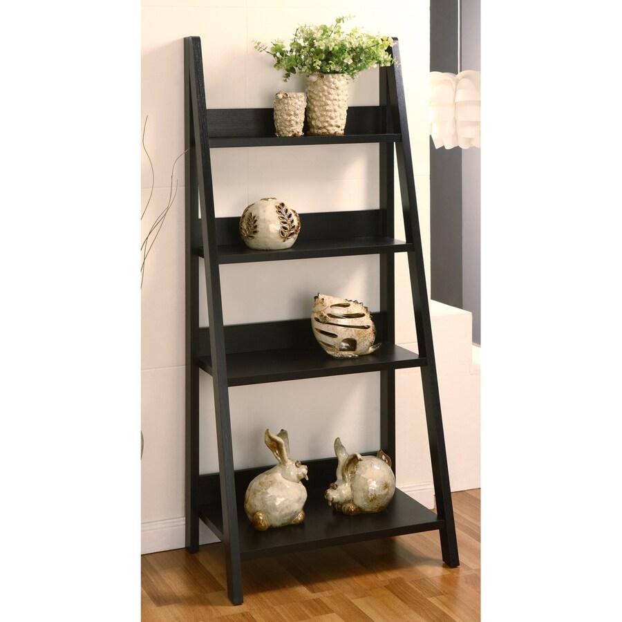 Enitial Lab Black 4-Shelf Bookcase
