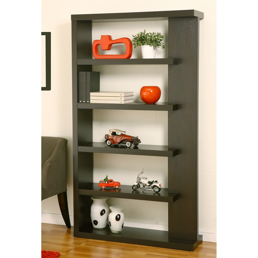 Enitial Lab Cappuccino 5-Shelf Bookcase